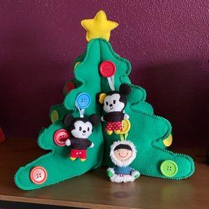 Hallmark Keepsake Plush Button Tree w/ Ornaments